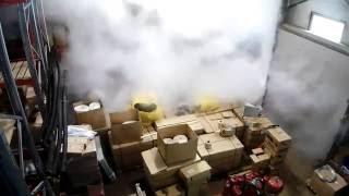 Сработал огнетушитель(Ничего страшного, это был углекислотный огнетушитель. Газ рассеялся и все опять стало чисто :) Заказчики..., 2013-11-01T06:22:03.000Z)