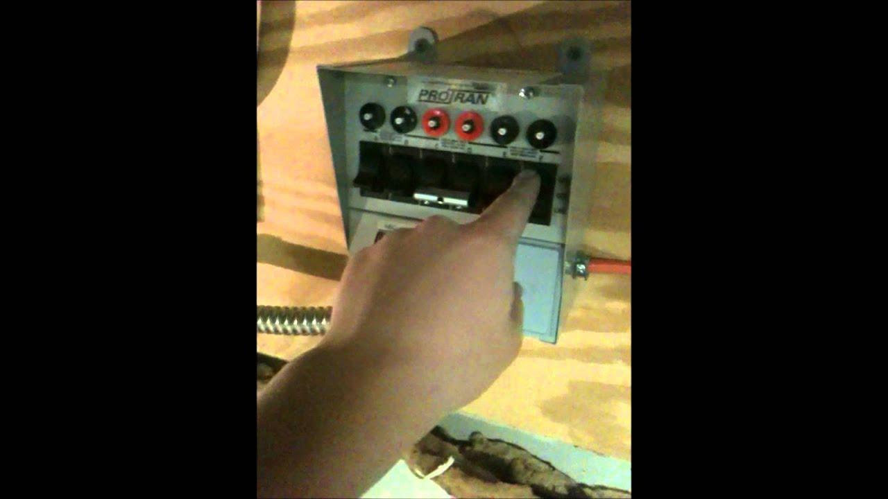 Reliance Transfer Switch Install