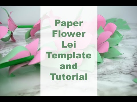 Paper Flower Lei Craft with Printable Template