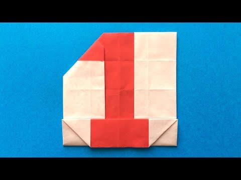 ハート 折り紙 数字 折り紙 : youtube.com
