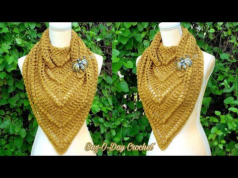how-to-crochet-a-cowl-shawl-|-taste-of-honey-|-bag-o-day-crochet-tutorial-#602