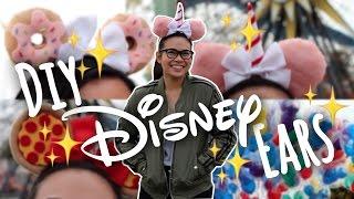 DIY CUTE + EASY Food Themed Minnie + Mickey Ears! | SimplyMaci