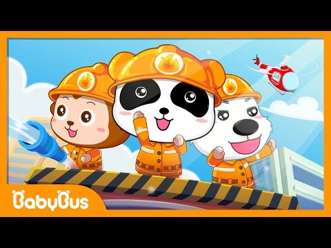 ❤ Little Firefighter Song  Nursery Rhymes  Kids Songs  BaBus