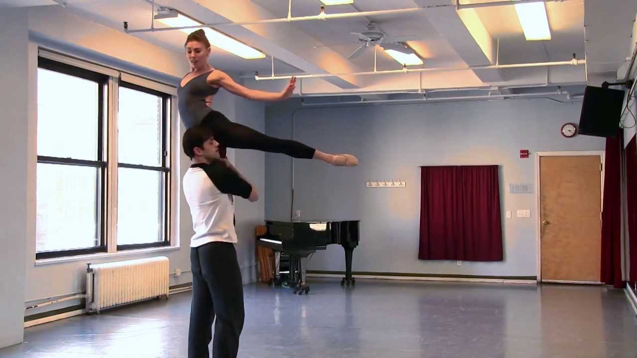 "Ballet Rehearsal for the New York Philharmonic's ""Carousel"" Production"