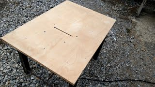 DIY โต๊ะเลื่อยวงเดือน บ้านๆ ทำง่ายใช้เอง