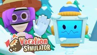 Schneeballschlacht im Winter-Urlaub | VR Urlaub Simulator #8