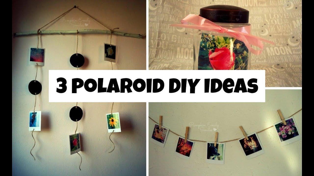 3 polaroid diy ideas diy polaroid wall display youtube