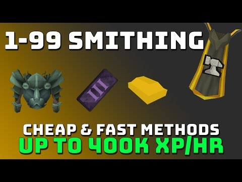 *OUTDATED, NEW IN DESC* 1-99 Smithing Guide [Runescape 3] Cheap & Fast Methods
