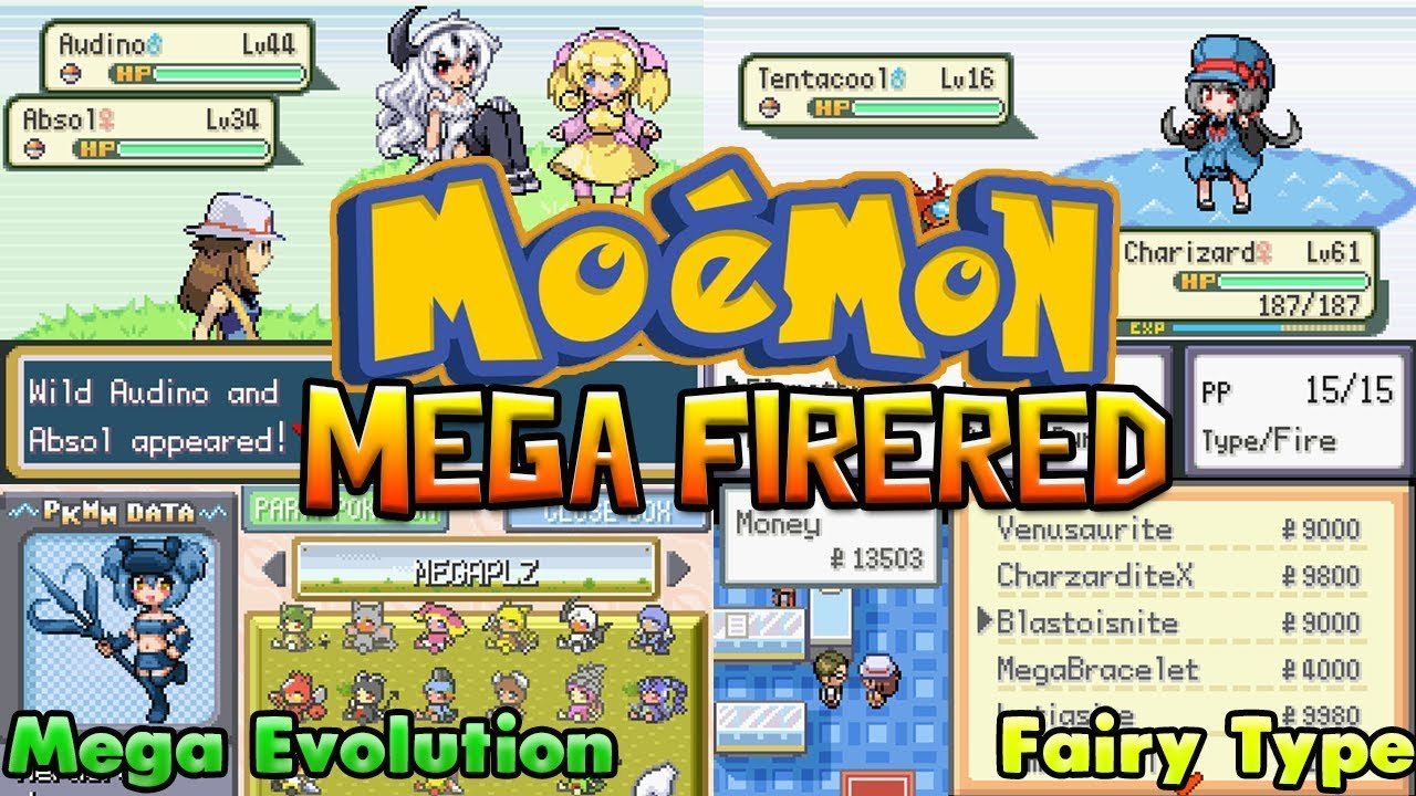 Mega Moemon Firered [Completed] - GBA Game With Mega Evolution,Fairy  Type,Gen 5!