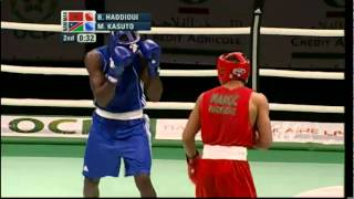Middle (75kg) Final - Haddioui (MAR) vs Kasuto (NAM) - 2012 African Olympic Qualifying Event