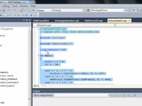 How to generate C++ DLL for Visual C++ application from Matlab Coder Toolbox with M file