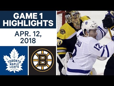 NHL Highlights | Maple Leafs vs. Bruins, Game 1 - Apr. 12, 2018