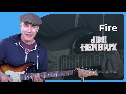 How to play Fire by Jimi Hendrix - Guitar Lesson Tutorial Classic Rock Easy mp3