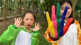 Learn Colors Hand Painting Colors Song for Kid Children - 歌の色 - 子供の歌&童謡