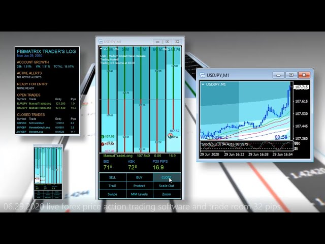 +35 Pips 5m Trend and 1m Trend Price Action Trading Software and Live Forex Trade Room FibMatrix VTA