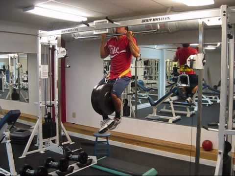 Weighted Chin-ups 132x5 - YouTube