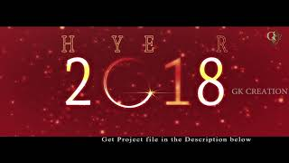 New Year 2018 Full HD After Effect templete with particles - 4K res.