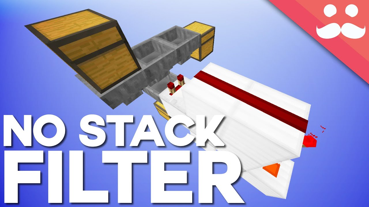 minecraft the non stackable item filter day 7 youtube