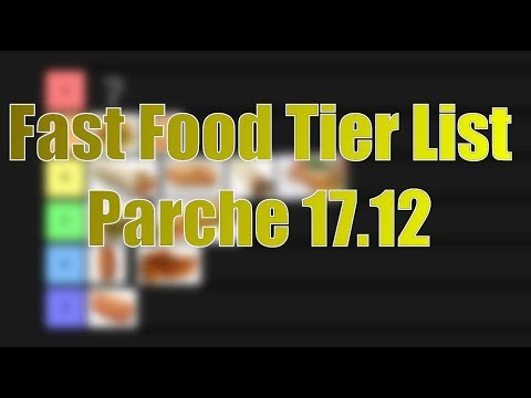 Comida Rápida Tier List (parche 17.12)