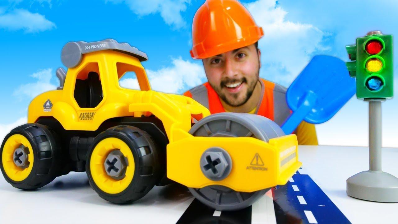 Çocuklar için oyuncak arabalar! Eyvah kırıldı! Yol çalışmaları araba oyunları