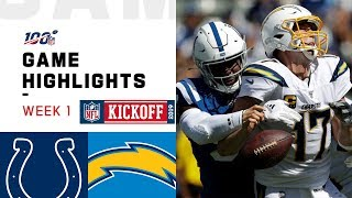 Colts vs. Chargers Week 1 Highlights | NFL 2019