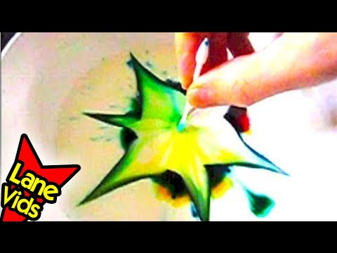 COLOR CHANGING MILK SCIENCE EXPERIMENT - YouTube