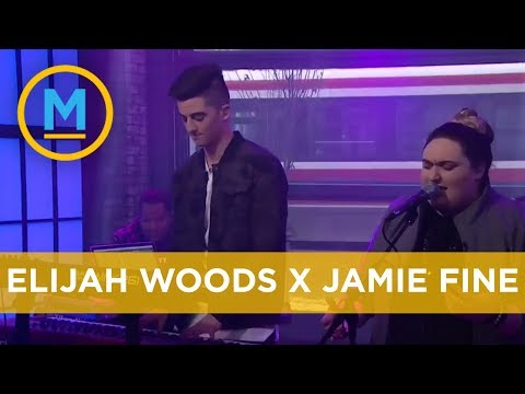 Image Description of : Elijah Woods x Jamie Fine perform 'Ain't Easy' on national television | Your Morning