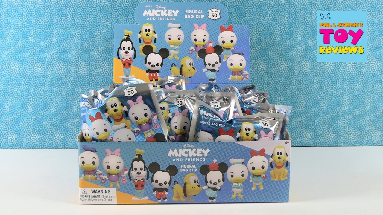 Disney Mickey & Friends Series 30 Figural Bag Clip Unboxing | PSToyReviews