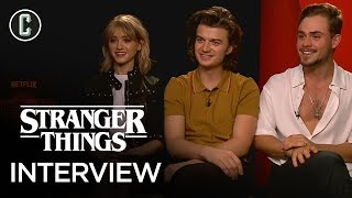 stranger things season 2 cast on easter eggs and working with the duffer brothers