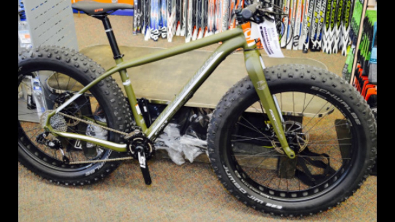 Cannondale Fat Caad 2 Green Clay Youtube
