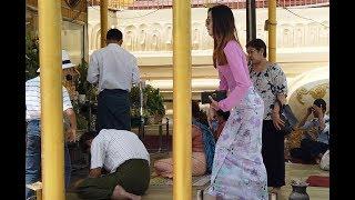Stunning Myanmar women, I was looking for beautiful Myanmar women even in the Temple