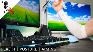 """Can """"gamers"""" be healthy? Yes! Health, posture and aiming"""
