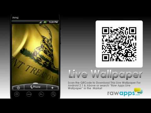 Gadsden Flag Live Wallpaper Dont Tread On Me Tea Party Youtube