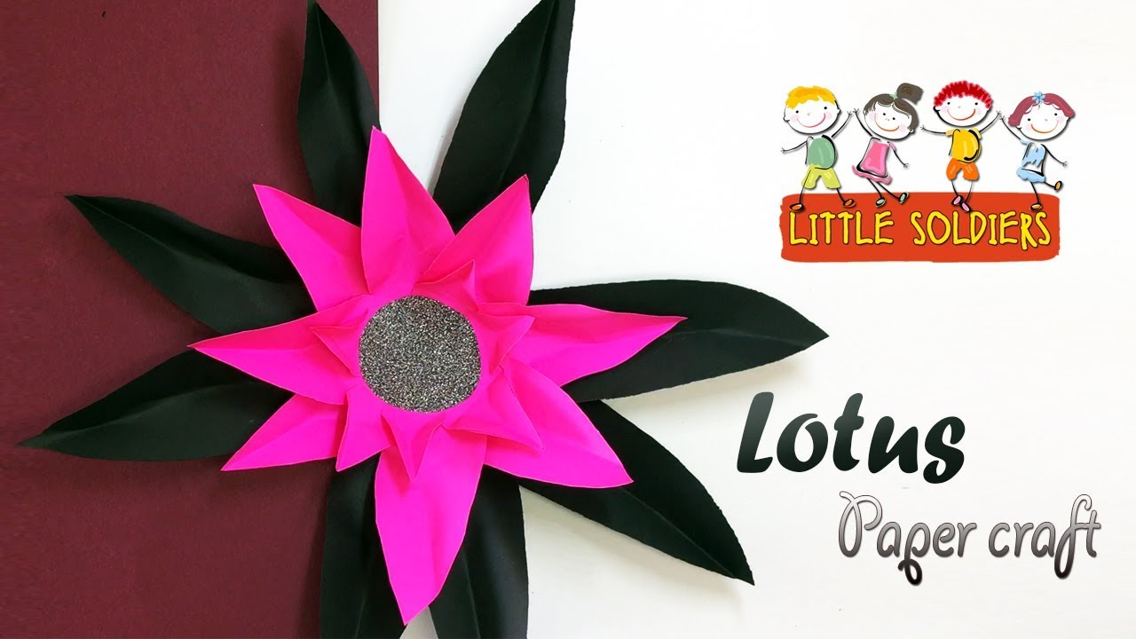 How To Make A Lotus Flower Step By Step Diy Paper Crafts Flowers