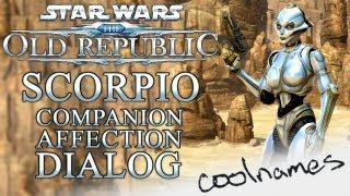 HD SCORPIO Complete Companion Affection Dialog SWTOR Star Wars The Old Republic