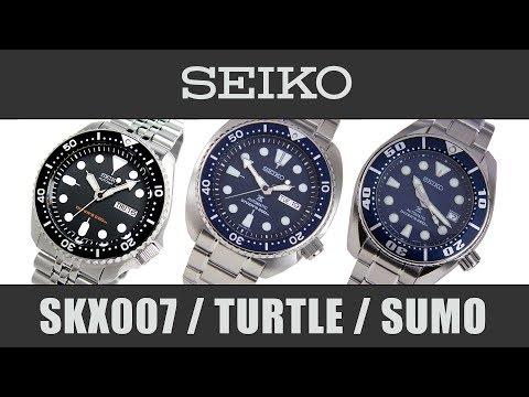 Seiko Comparison  - SKX007 / SRP773 Turtle / SBDC033 Sumo