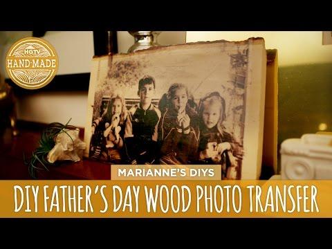 How to Transfer a Photo to Wood -  HGTV Handmade