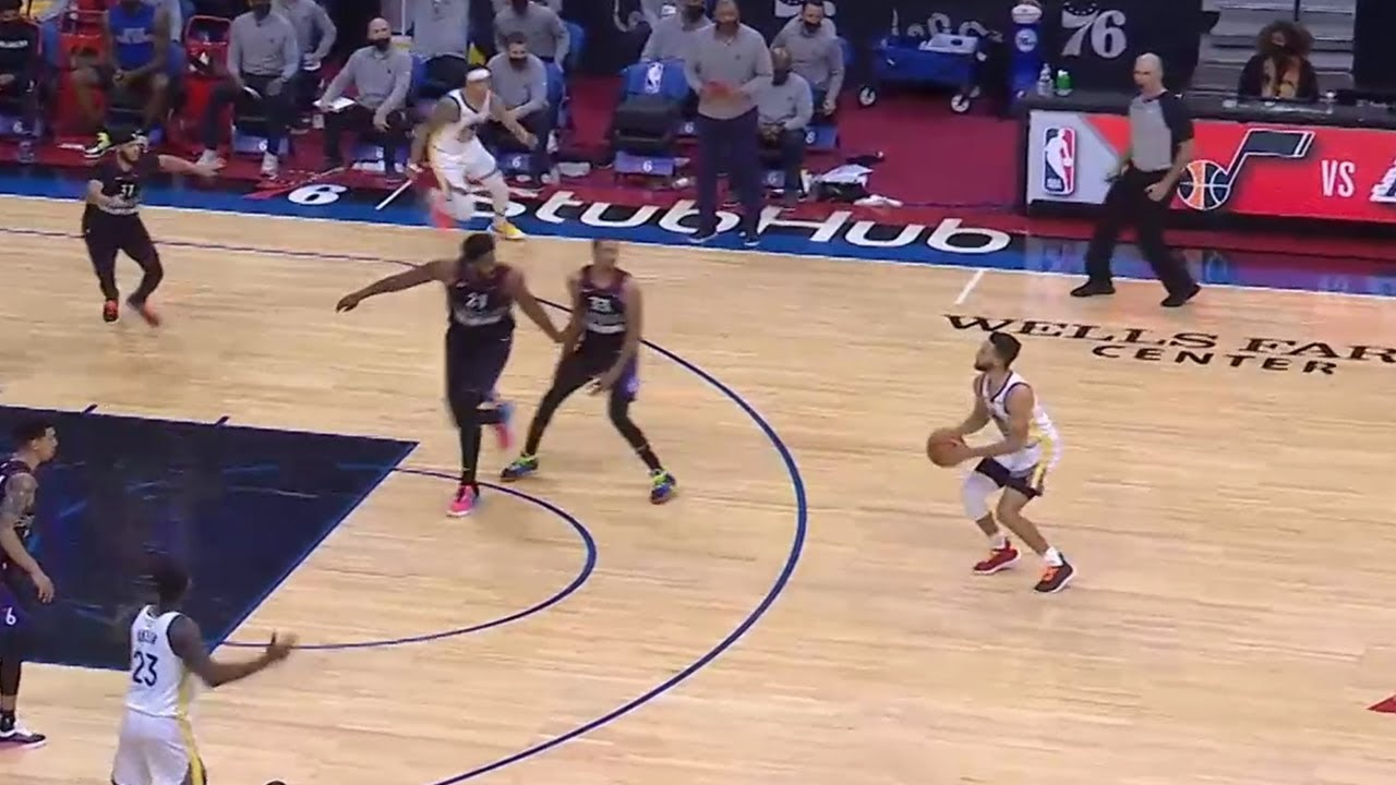 Steph Curry just cooked George Hill for 46 points & CLUTCH three-pointer! Warriors vs 76ers