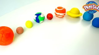 How To Make.. PLANETS IN SOLAR SYSTEM COMPILATION | Play Doh Planets for Kids 🎨 Crafty Kids