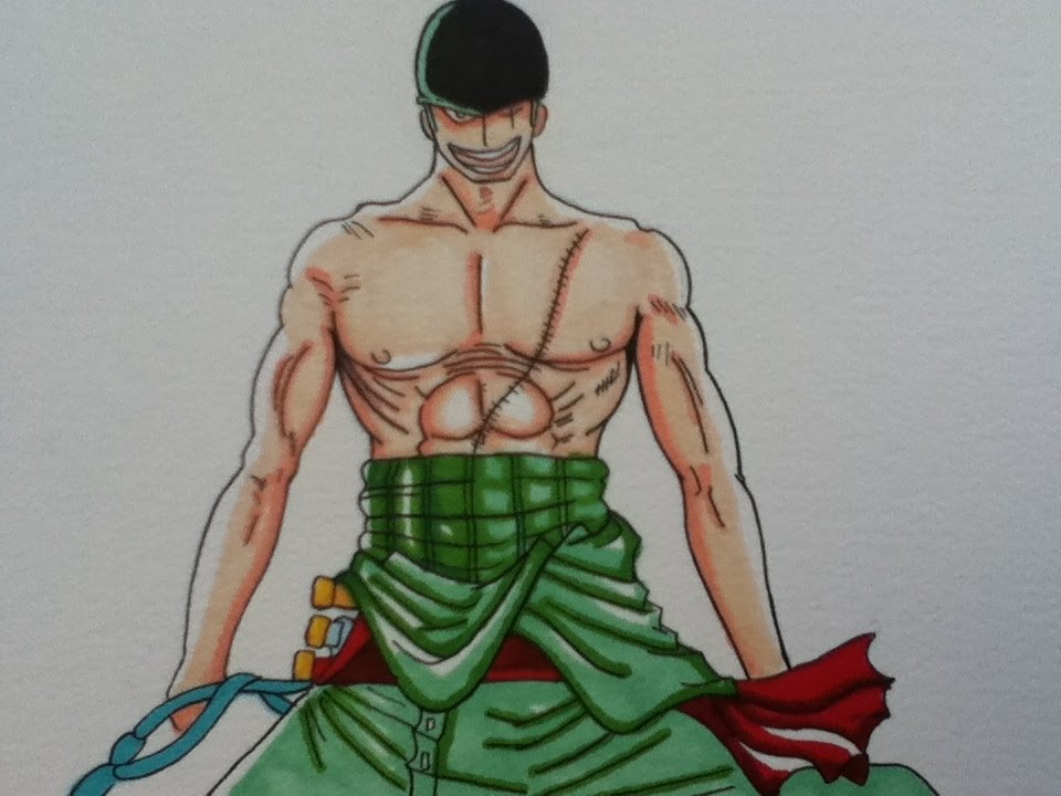 Drawing Roronoa Zoro, One Piece - YouTube Zoro Roronoa New World