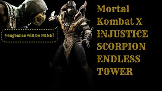 Mortal Kombat X (PS4) INJUSTICE SCORPION (Inferno) Endless Tower(This is another Endless Tower with Scorpion using his Injustice Costume and the Inferno Variation. I managed to win 26 consecutive matches; I tried to win more, ..., 2015-07-30T22:26:42.000Z)