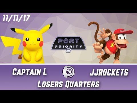 Port Priority 2 - Captain L (Pikachu) Vs. JJROCKETS (Diddy Kong) - Losers Quarters
