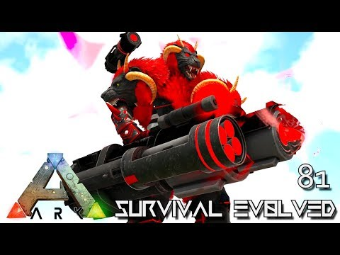 ARK: SURVIVAL EVOLVED - PSYCHO SUPREME WARCHIEF TAMING E81 !!! ( ARK EXTINCTION CORE MODDED )
