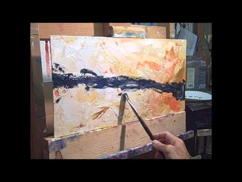 Abstract oil painting technique