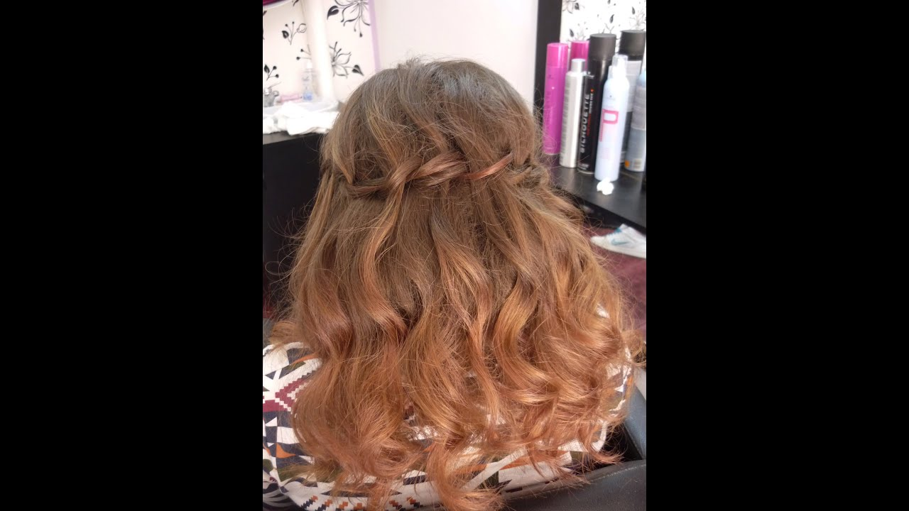 Waterfall Hairstyle With Curls | Hair