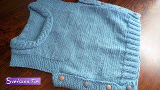 Жилетка (безрукавка) для малышей. Детская жилетка спицами # 304