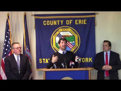 Erie County Property Tax Pre-Payment Press Conference Dec 27, 2017