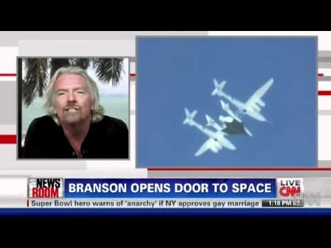 Sir Richard Branson (Virgin Airlines) Opens the Door to Space Tourism: Space Travel