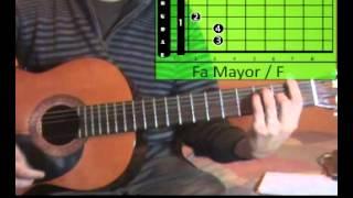 cmo tocar mi vida dld guitarra tutorial