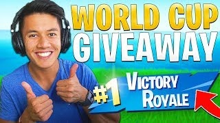 FIRST WIN IN 14 DAYS + GIVEAWAY FOR FORTNITE WORLD CUP! -FORTNITE ENGLISH
